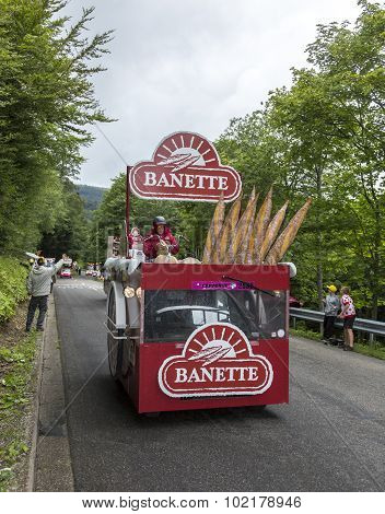 Banette Vehicle In Vosges Mountains - Tour De France 2014