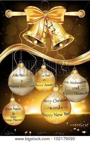Happy New Year 2016 elegant greeting card
