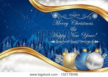 Christmas and New Year greeting-card