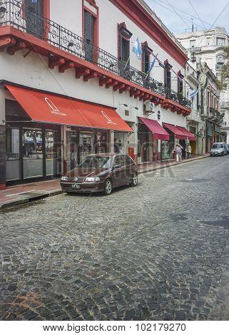 Cobblestone Street In San Telmo Buenos Aires