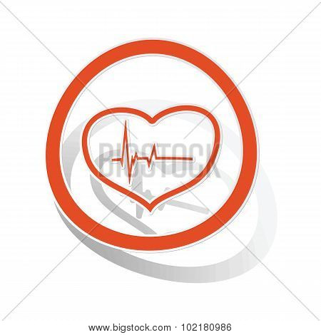 Cardiology sign sticker, orange
