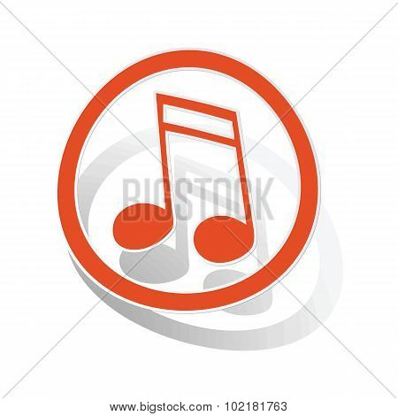 Music sign sticker 2, orange