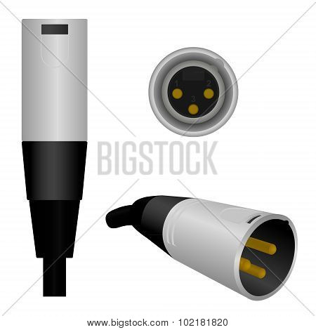 XLR/Microphone Plug - Male
