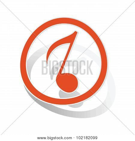 Music sign sticker 3, orange