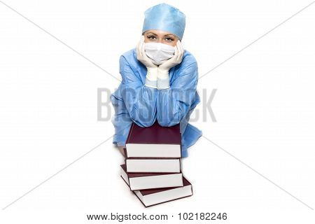 Doctor with books
