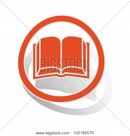 Book sign sticker, orange