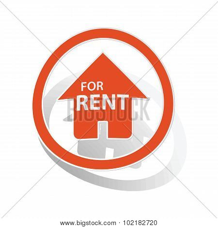 Rental house sign sticker, orange