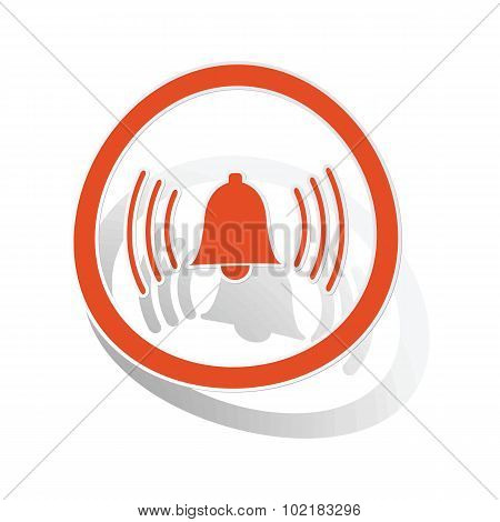 Alarm sign sticker, orange