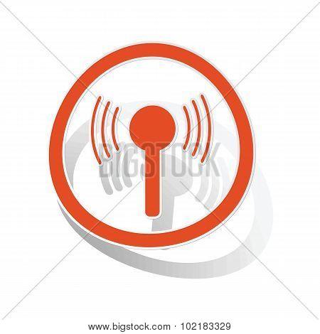 Signal sign sticker, orange