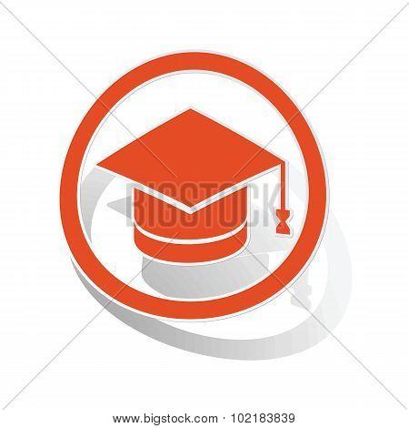 Graduation sign sticker, orange