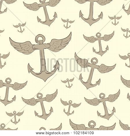 Seamless winged anchors