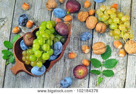 Fresh Ripe Autumn Fruits