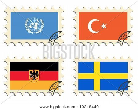 The Post Stamps Of The Countries