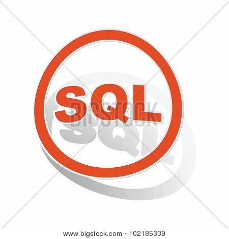 SQL sign sticker, orange