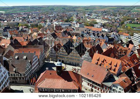 Herrenberg top view. Baden-Wurttemberg, Germany