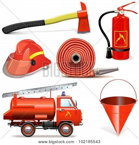 Vector Fire Prevention Icons