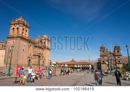 Ordinary Life In The Streets Of Cusco, Peru