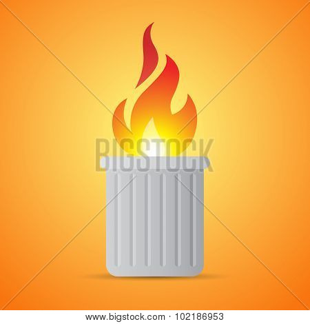 Burning Trash Can