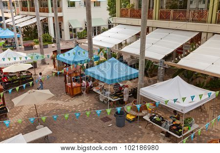 Wednesday Market In George Town Of Grand Cayman Island