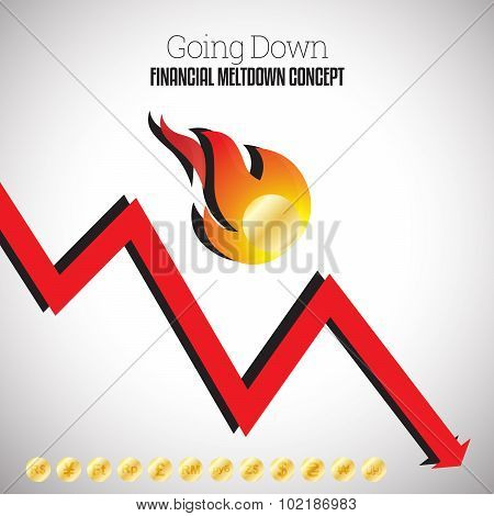 Financial Fireball Going Down