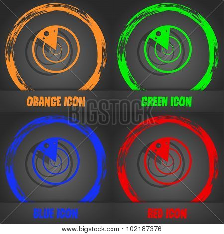 Radar Icon Sign. Fashionable Modern Style. In The Orange, Green, Blue, Red Design. Vector