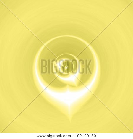 Gold Magic Pattern Texture Background With Mystic Symbol Eye