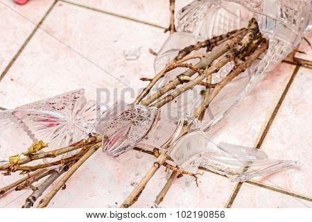 Branches In Broken Vase