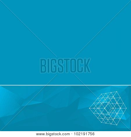 Abstract geometrical background. The template design booklet, brochure, banner, document. Vector, EP