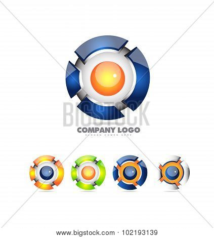 Sphere Logo Set 3D Icon