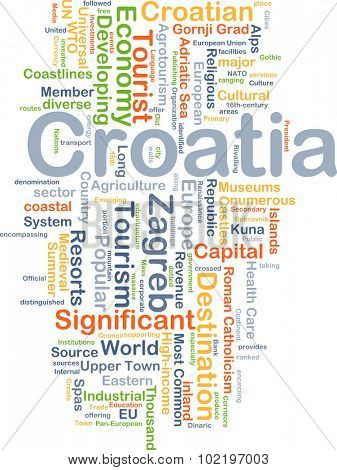 Background concept wordcloud illustration of Croatia