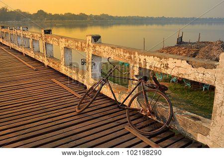 Bicycle On U Bien Bridge