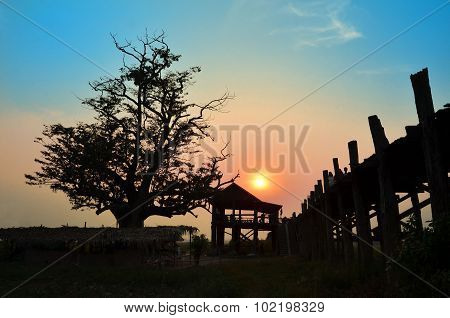 U Bein Bridge Amarapura Burma