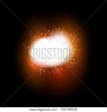 Sparkling stars light effect easy all editable