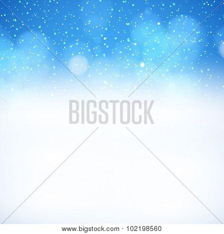 Blue Christmas background easy editable