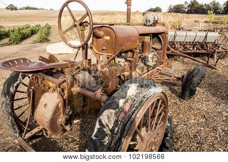 Vintage Tractor Out To Pasture
