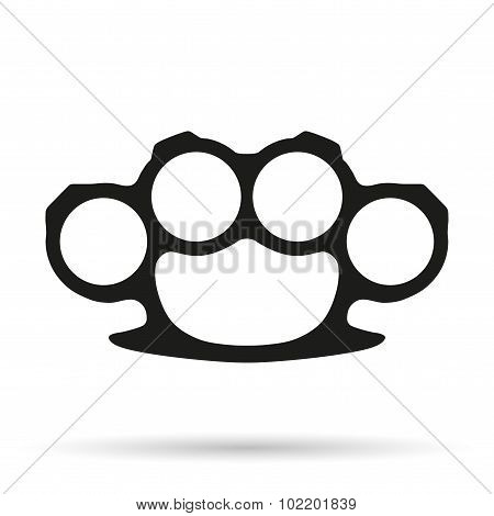 Silhouette simple symbol of Brassknuckles