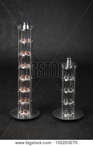 Home Alcohol Distiller, Crystal Column, Quartz Glass, Copper Bubble Plates.
