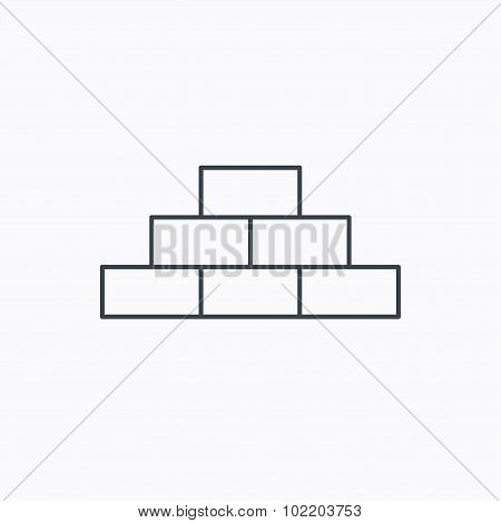 Brickwork icon. Brick construction sign.