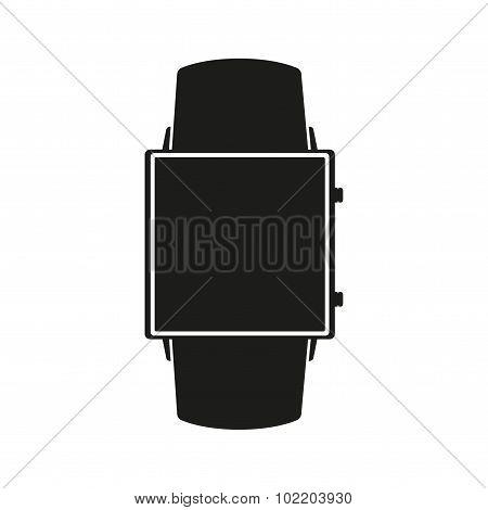 Silhouette symbol of Original design example smartwatch.