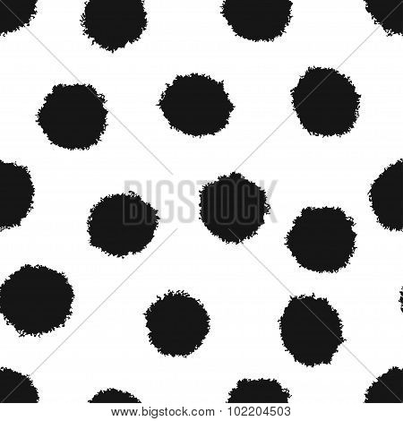 Seamless pattern with abstract fluffy balls