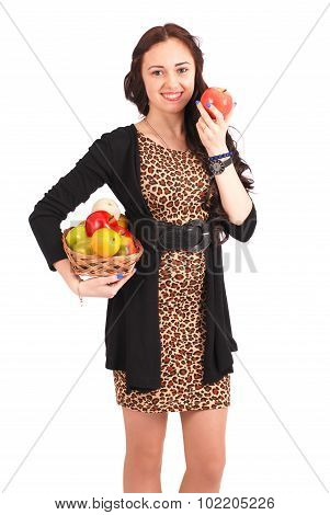 Young Girl With A Fruit Basket