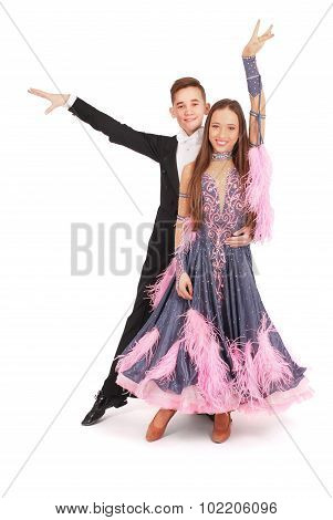 Boy And Girl Dancing Ballet