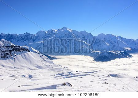 Mount Blanc Mountain Ridge