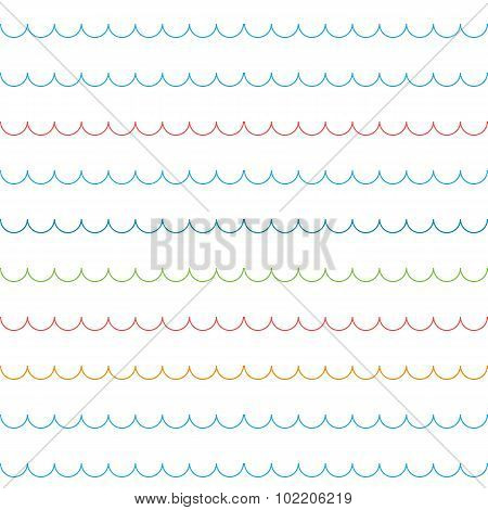 Seamless wavy line pattern vector illustration