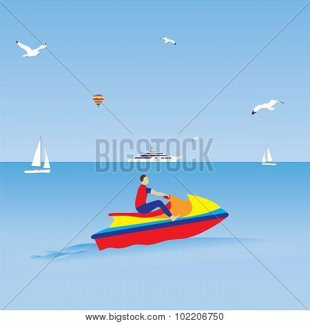 Man On A Jet Ski.