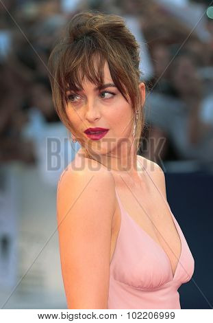 Dakota Johnson at the premiere of Black Mass at the 2015 Venice Film Festival. September 4, 2015  Venice, Italy