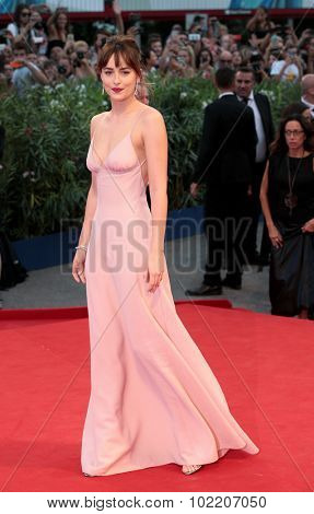 Dakota Johnson at the premiere of Black Mess at the 2015 Venice Film Festival. September 4, 2015  Venice, Italy