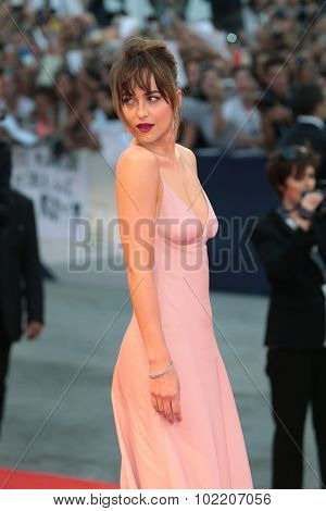 Dakota Johnson at the premiere of Black Mass at the 2015 Venice Film Festival. September 4, 2015  Venice, Italy Picture: Kristina Afanasyeva