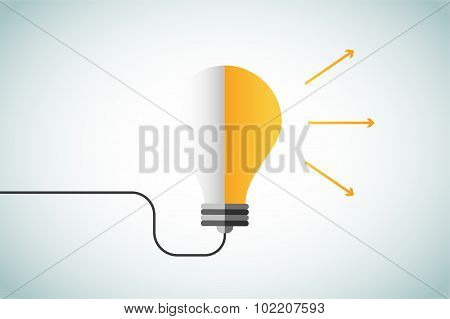 Bulb lamp light idea vector background illustration