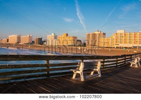 Fishing Pier View of Virginia Beach Boardwalk